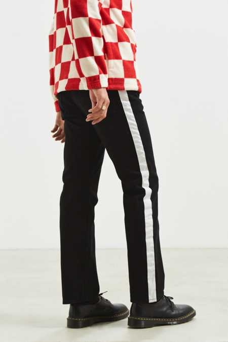 Calvin Klein High Taped Black + White Straight Jean