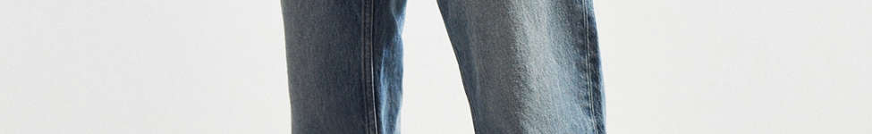 Thumbnail View 1: Calvin Klein River Blue Tapered Straight Jean