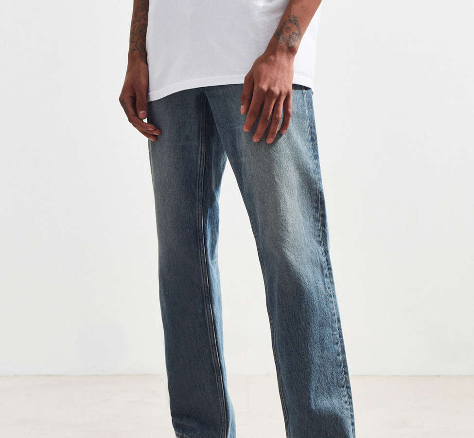 Slide View: 1: Calvin Klein River Blue Tapered Straight Jean