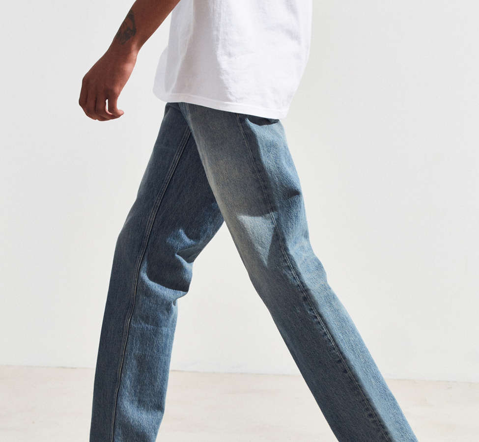Slide View: 3: Calvin Klein River Blue Tapered Straight Jean
