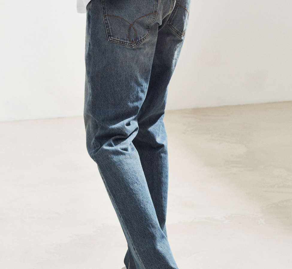 Slide View: 4: Calvin Klein River Blue Tapered Straight Jean