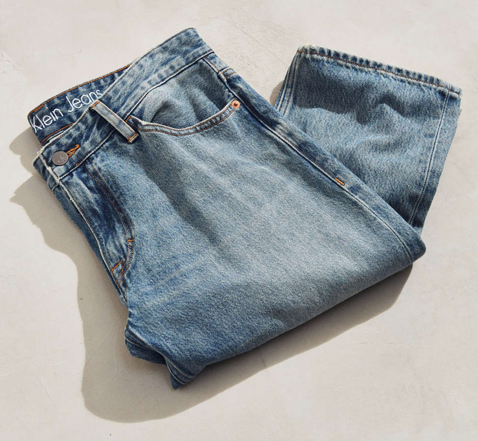 Slide View: 5: Calvin Klein River Blue Tapered Straight Jean
