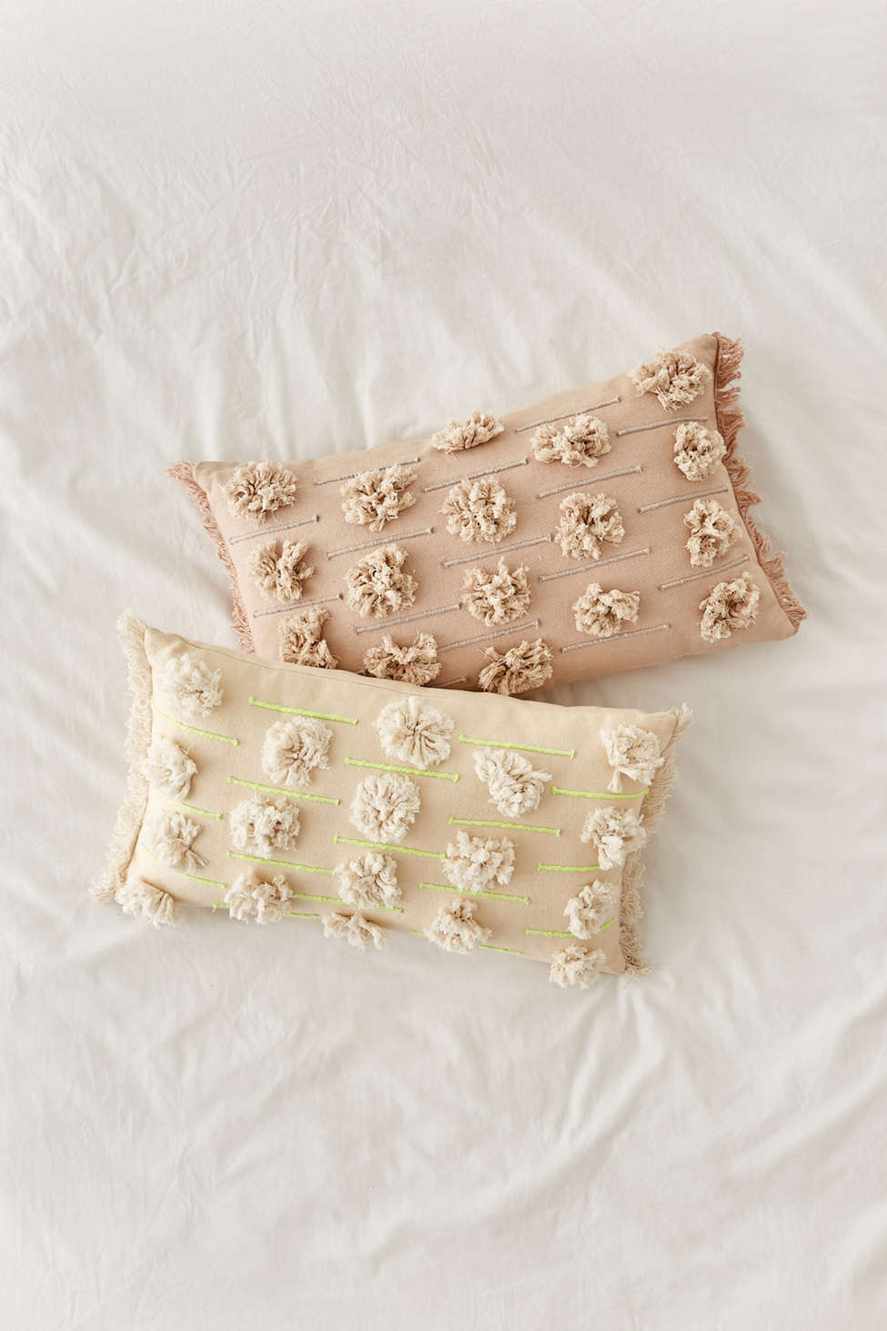 Slide View: 5: Edra Tufted Lumbar Pillow