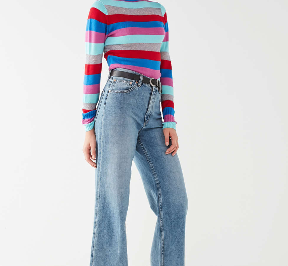 Slide View: 1: Jeans à taille haute et jambe large Piper BDG