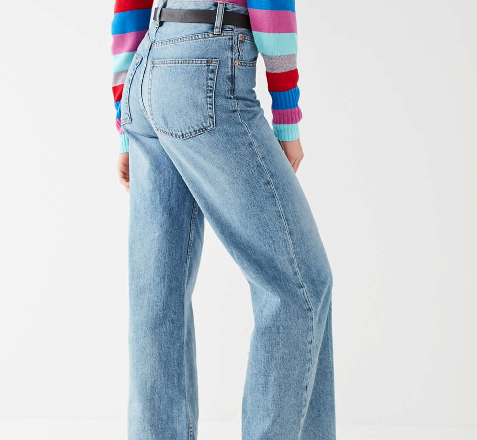 Slide View: 2: Jeans à taille haute et jambe large Piper BDG