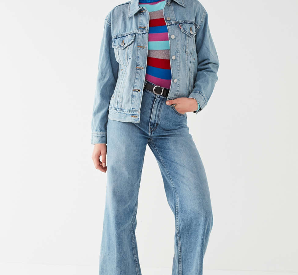 Slide View: 3: Jeans à taille haute et jambe large Piper BDG