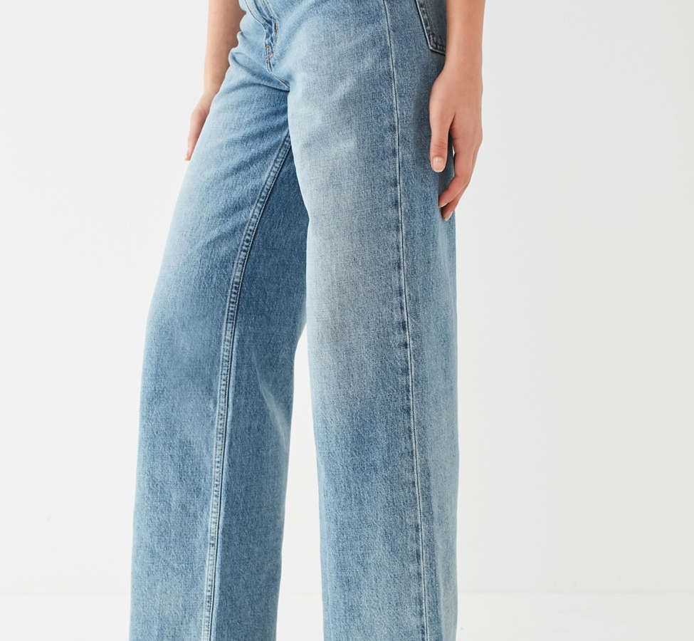 Slide View: 5: Jeans à taille haute et jambe large Piper BDG