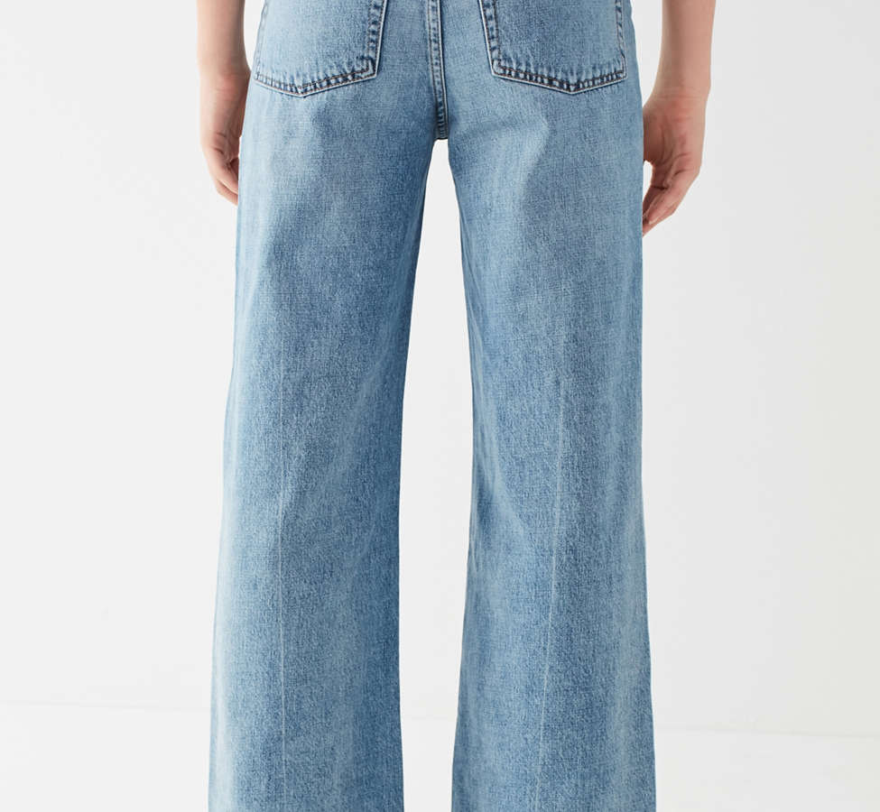 Slide View: 6: Jeans à taille haute et jambe large Piper BDG