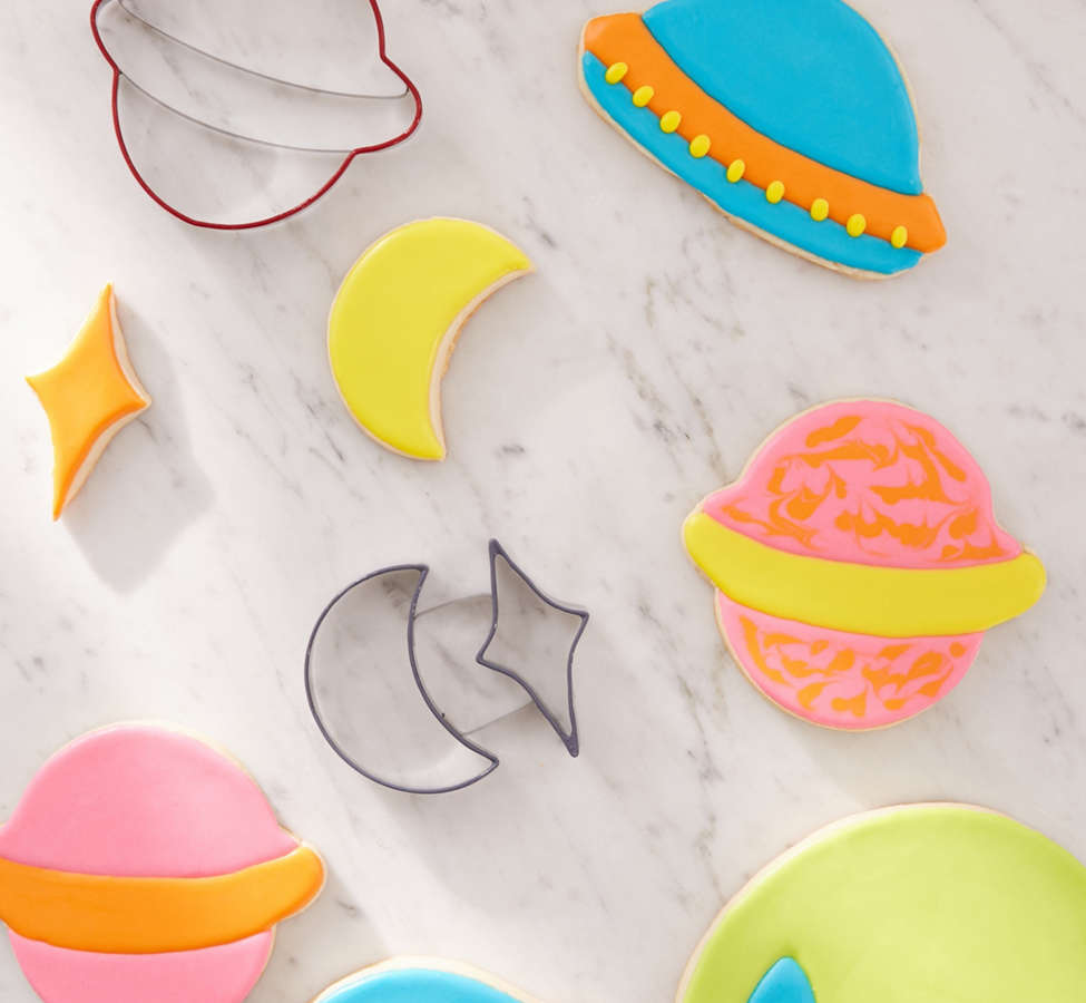 Slide View: 1: Outer Space Cookie Cutter Set