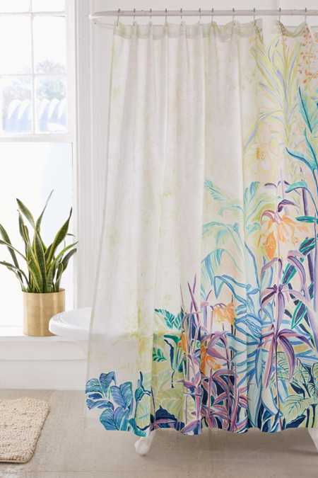 Painterly Foliage Shower Curtain
