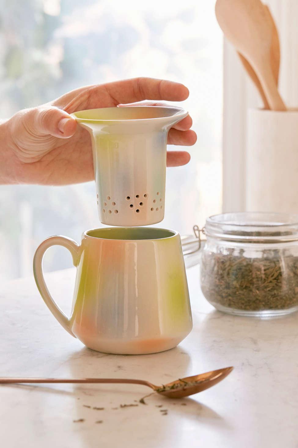 Slide View: 1: Pour-Over Tea Diffuser Mug