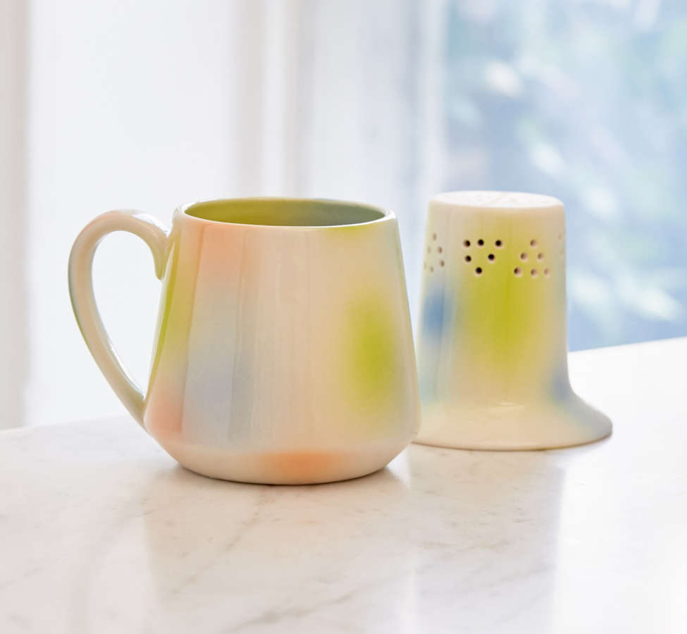 Slide View: 4: Pour-Over Tea Infuser Mug