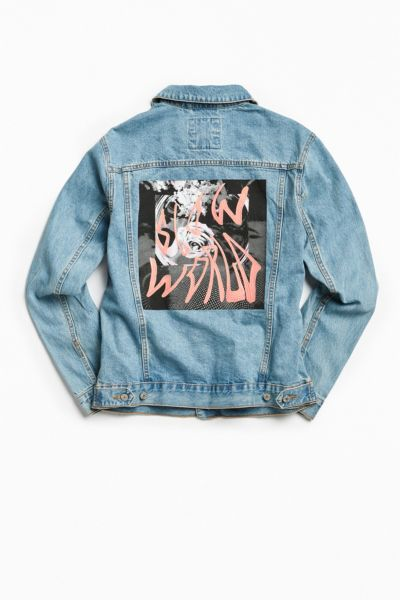 BDG Embroidered Graphic Back Patch Denim Trucker Jacket - Indigo XS at Urban Outfitters