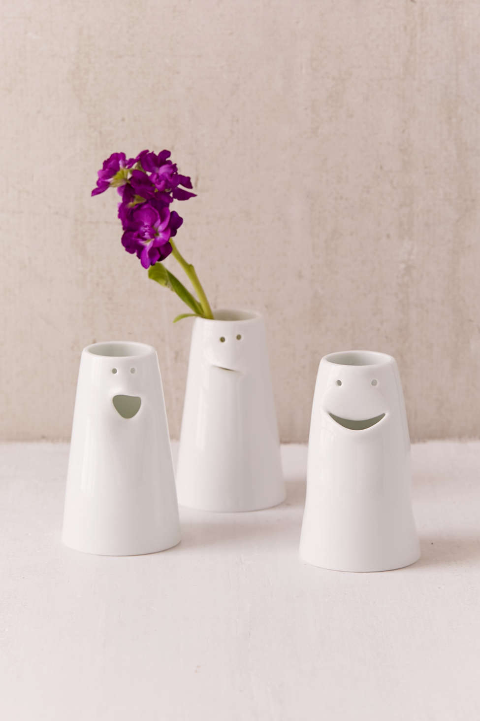 Slide View: 1: Spin Ceramics Mini Face Vase Set