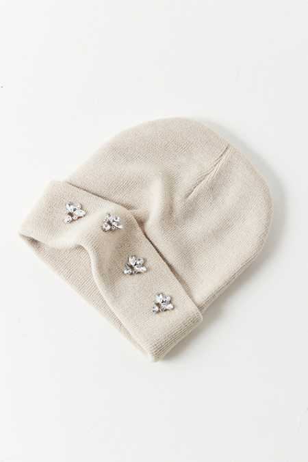 Embellished Double Knit Essential Beanie