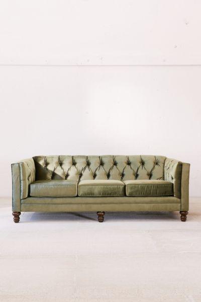 Graham Velvet Sofa Urban Outfitters