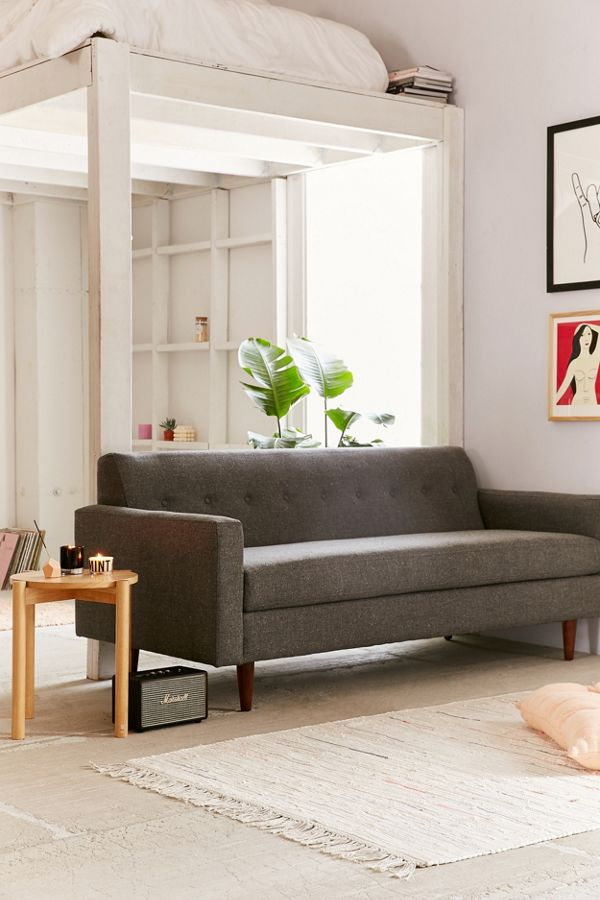 velvet outfitters urban green loveseat sofa review couch grey tufted sleeper