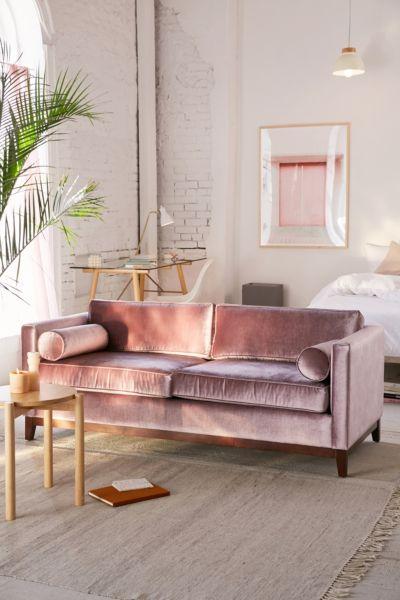 Piper Petite Velvet Sofa Urban Outfitters