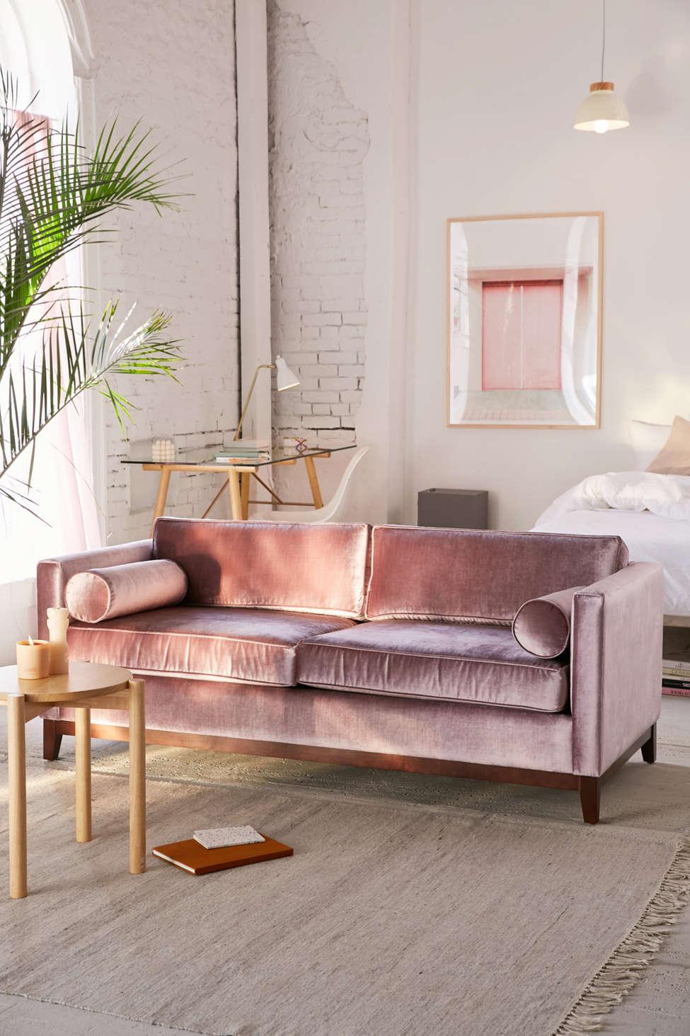 Velvet Sofa piper petite velvet sofa | urban outfitters