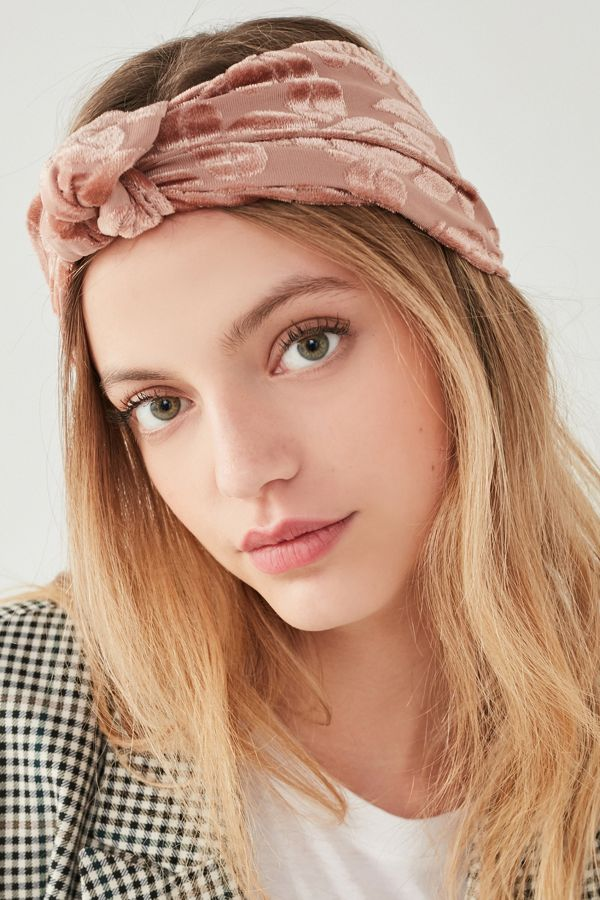 Burnout Velvet Knot Headwrap | Urban Outfitters