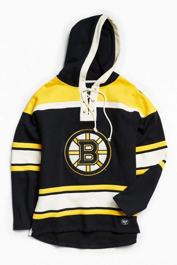47 Brand Boston Bruins Lacer Hoodie Sweatshirt  8d3c9a1dc39
