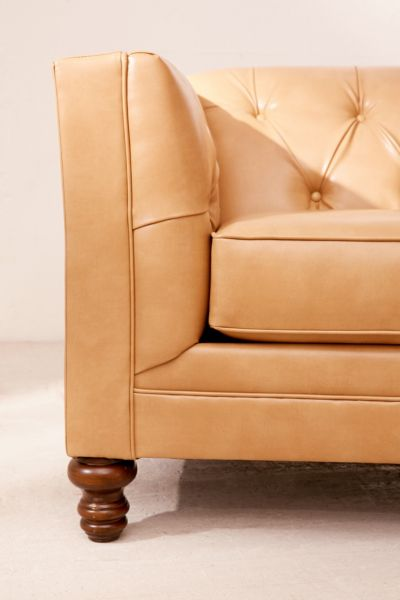 Graham Recycled Leather Sofa Urban Outfitters