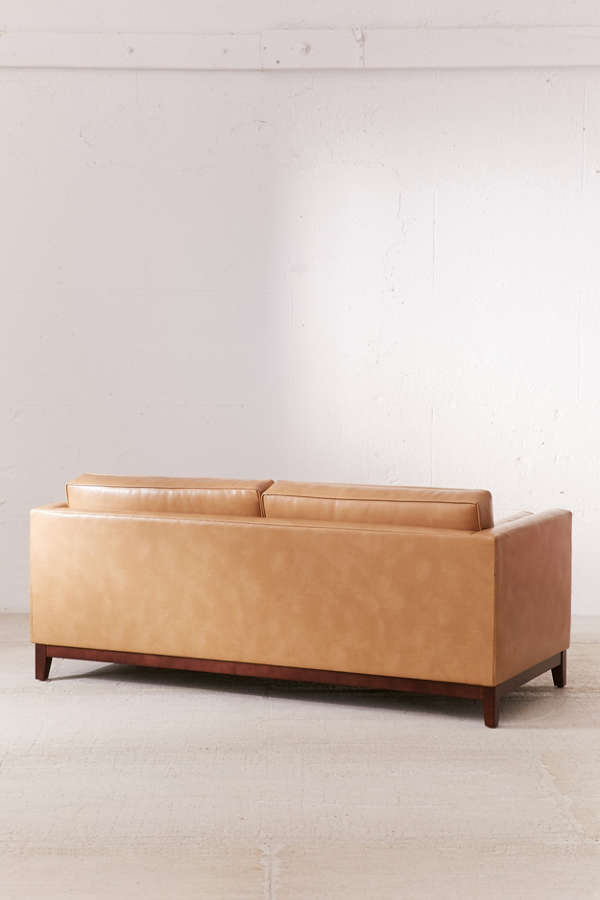 Slide View  4  Piper Petite Recycled Leather Sofa. Piper Petite Recycled Leather Sofa   Urban Outfitters