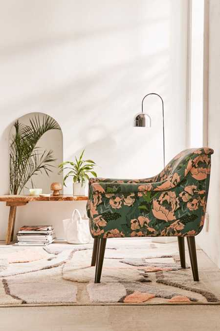 Polly Floral Print Arm Chair