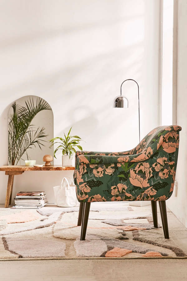 Slide View  2  Polly Floral Print Arm ChairPolly Floral Print Arm Chair   Urban Outfitters. High Tech Arm Chairs. Home Design Ideas