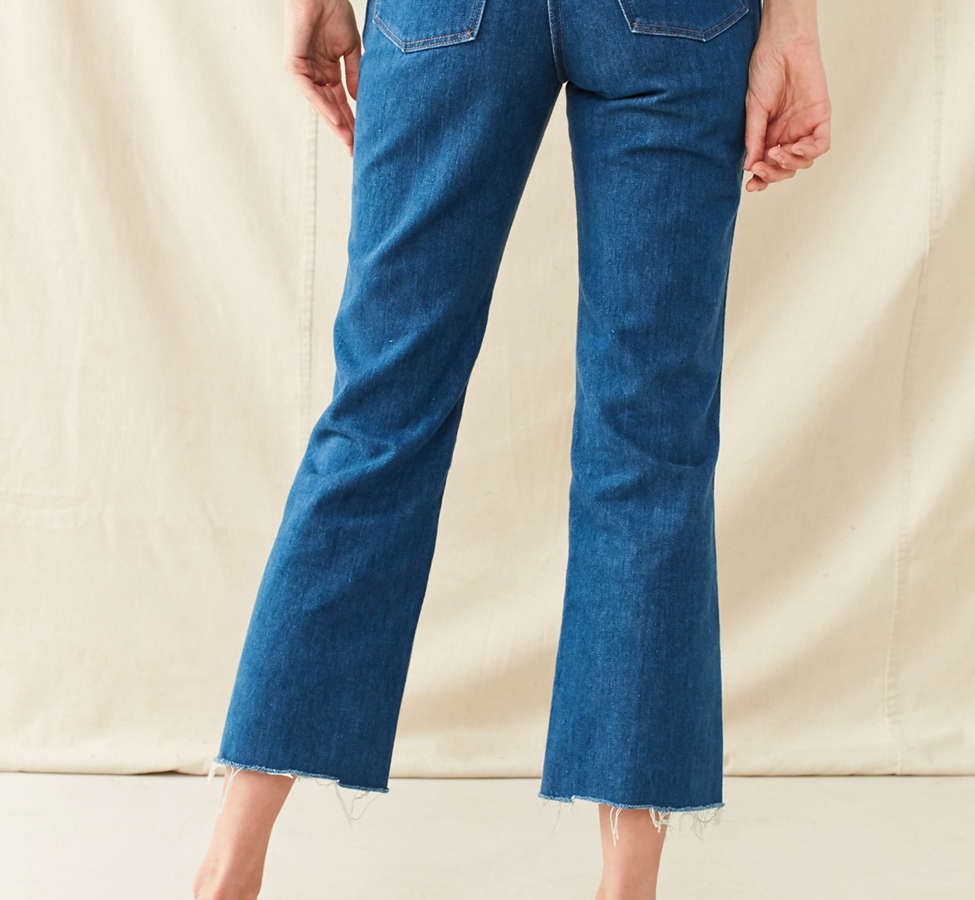 Slide View: 2: Vintage '70s Cropped Kick Flare Jean