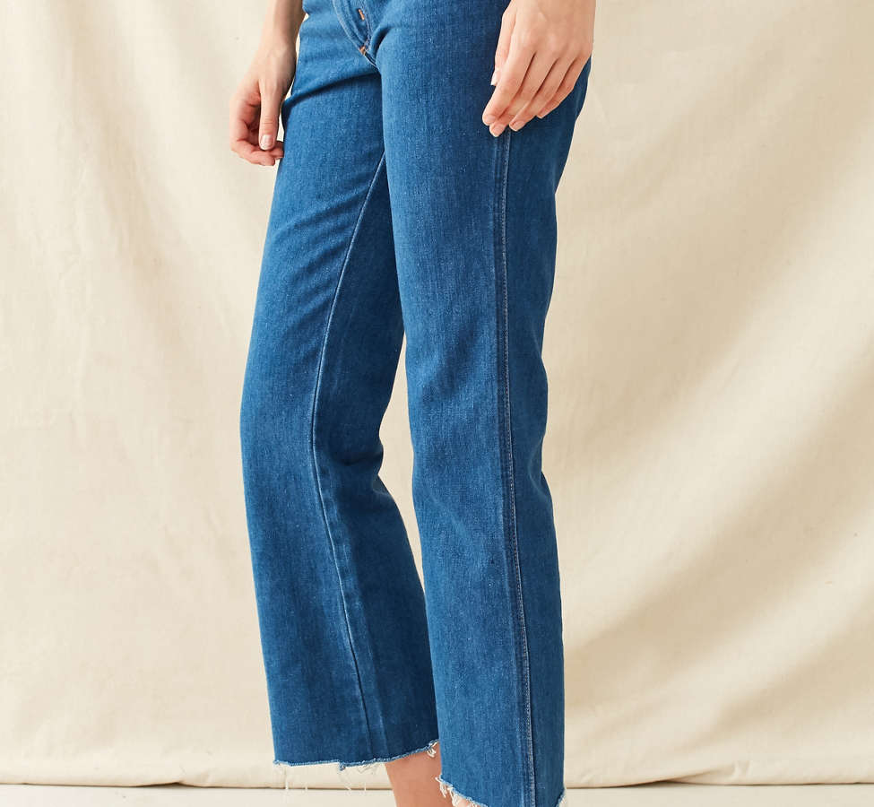 Slide View: 4: Vintage '70s Cropped Kick Flare Jean