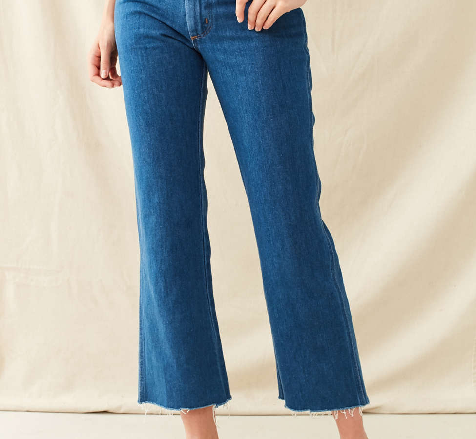 Slide View: 6: Vintage '70s Cropped Kick Flare Jean