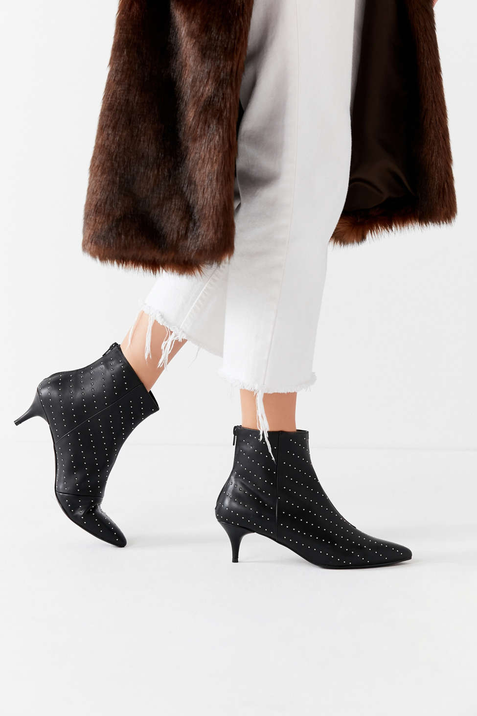 Jules Studded Kitten Heel Ankle Boot | Urban Outfitters