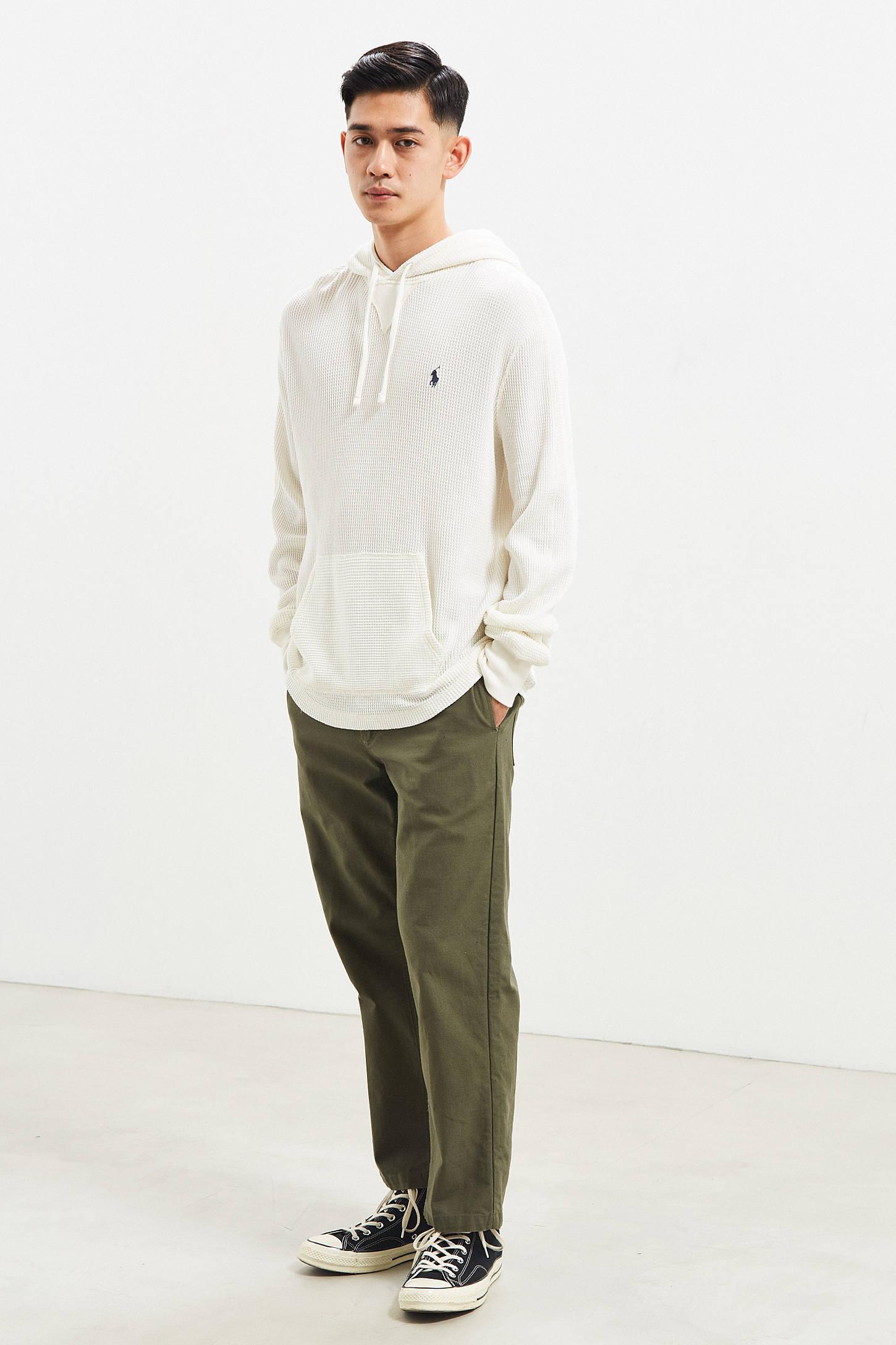 Polo Ralph Lauren Waffle Hooded Long Sleeve Shirt | Urban Outfitters