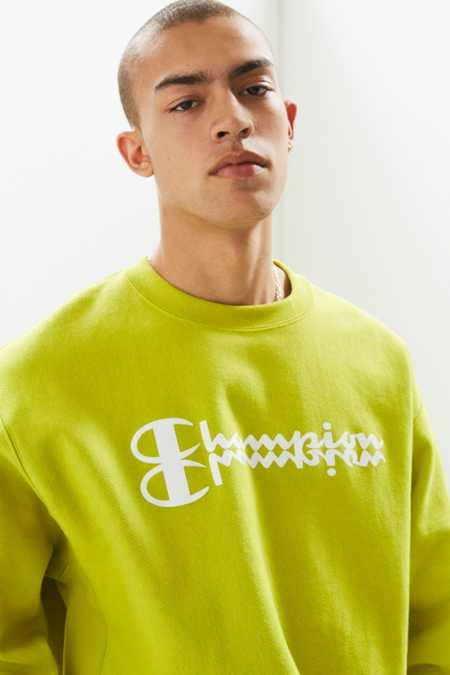 Champion Mirror Script Logo Crew Neck Sweatshirt