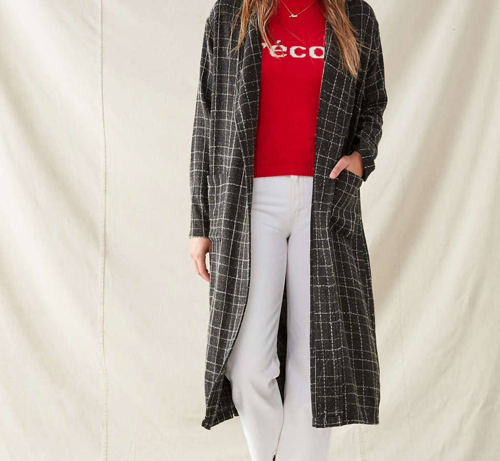 Slide View: 1: Urban Renewal Remade Checkered Duster Jacket