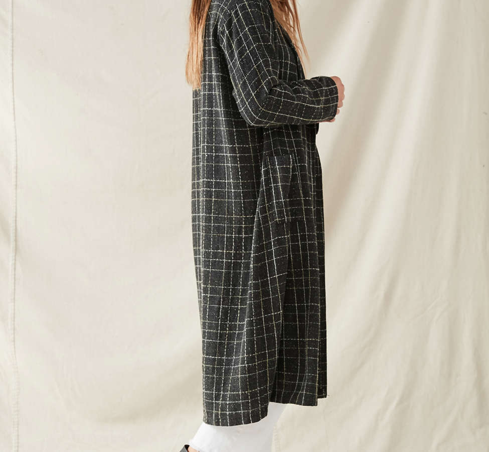 Slide View: 2: Urban Renewal Remade Checkered Duster Jacket