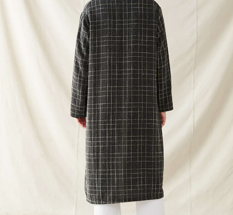 Slide View: 4: Urban Renewal Remade Checkered Duster Jacket