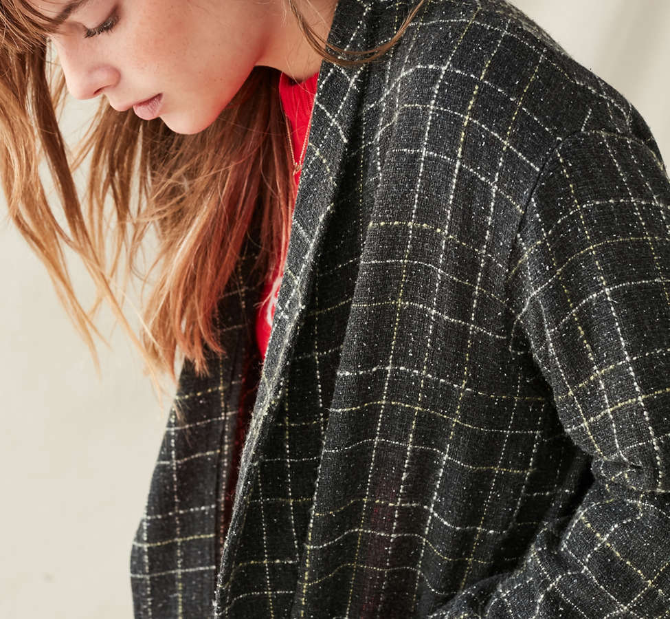 Slide View: 5: Urban Renewal Remade Checkered Duster Jacket