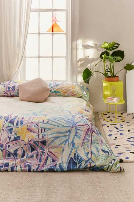 Painterly Foliage Duvet Cover