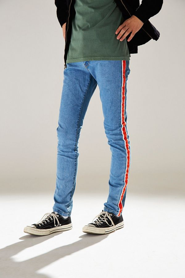 Bdg Side Tape Skinny Jean Urban Outfitters