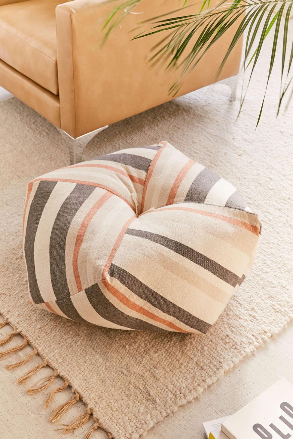 Slide View: 1: Serape Stripe Floor Pillow