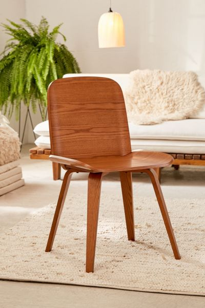 Miyu Wooden Chair - Chocolate One Size at Urban Outfitters