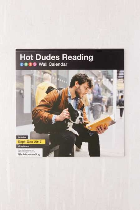 2018 Hot Dudes Reading 12-Month Wall Calendar