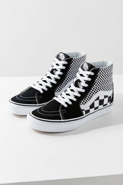 Vans Sk8-Hi Mix Checkerboard Sneaker | Urban Outfitters  Vans Sk8-Hi Mix...