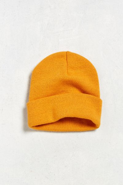 UO Essential Knit Beanie - Mustard One Size at Urban Outfitters