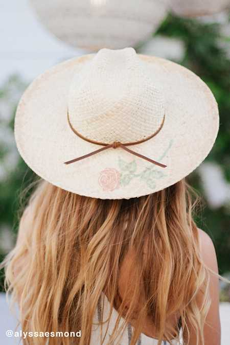 Brixton Jenna Rose Tattoo Straw Rancher Hat
