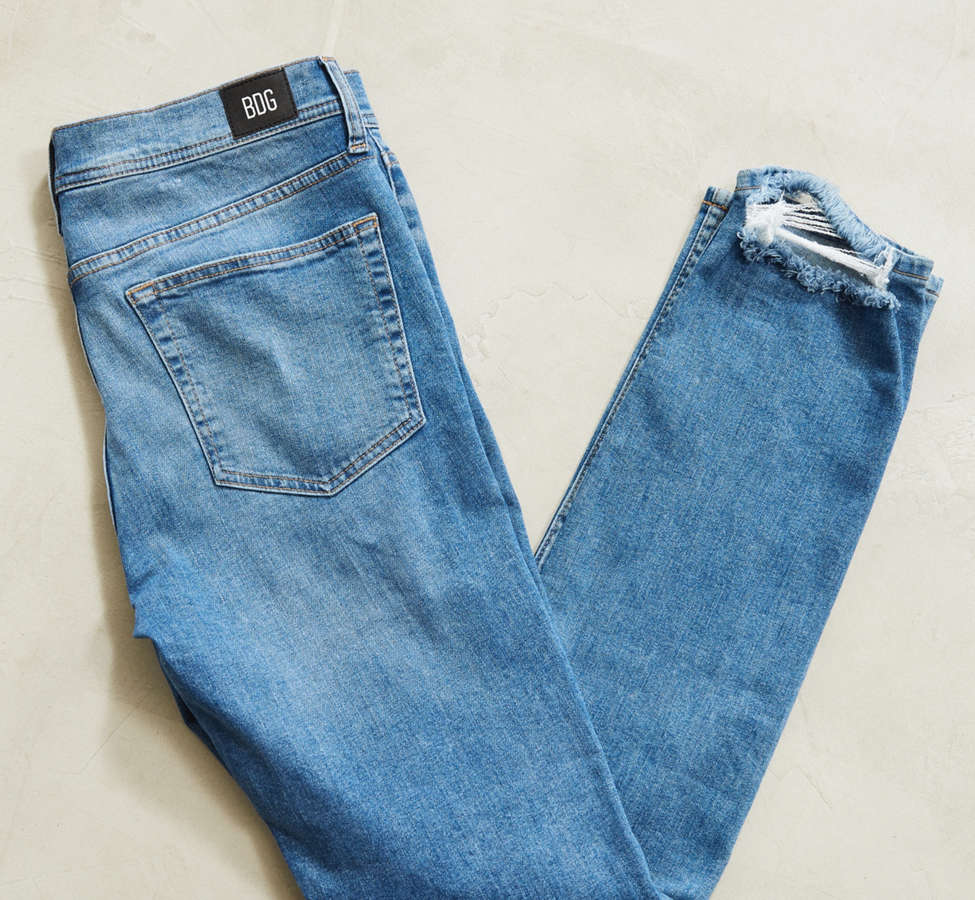 Slide View: 2: BDG Destructed Noble Wash Skinny Jean