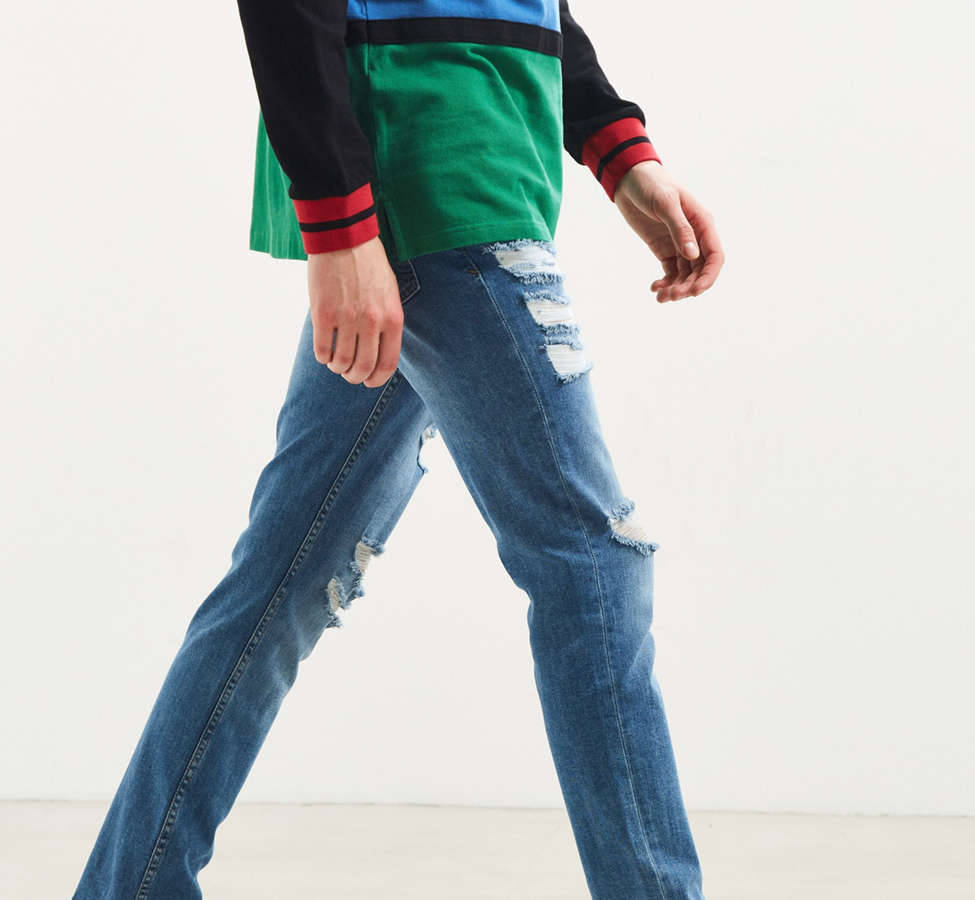 Slide View: 3: BDG Destructed Noble Wash Skinny Jean