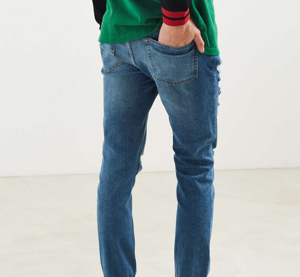 Slide View: 4: BDG Destructed Noble Wash Skinny Jean